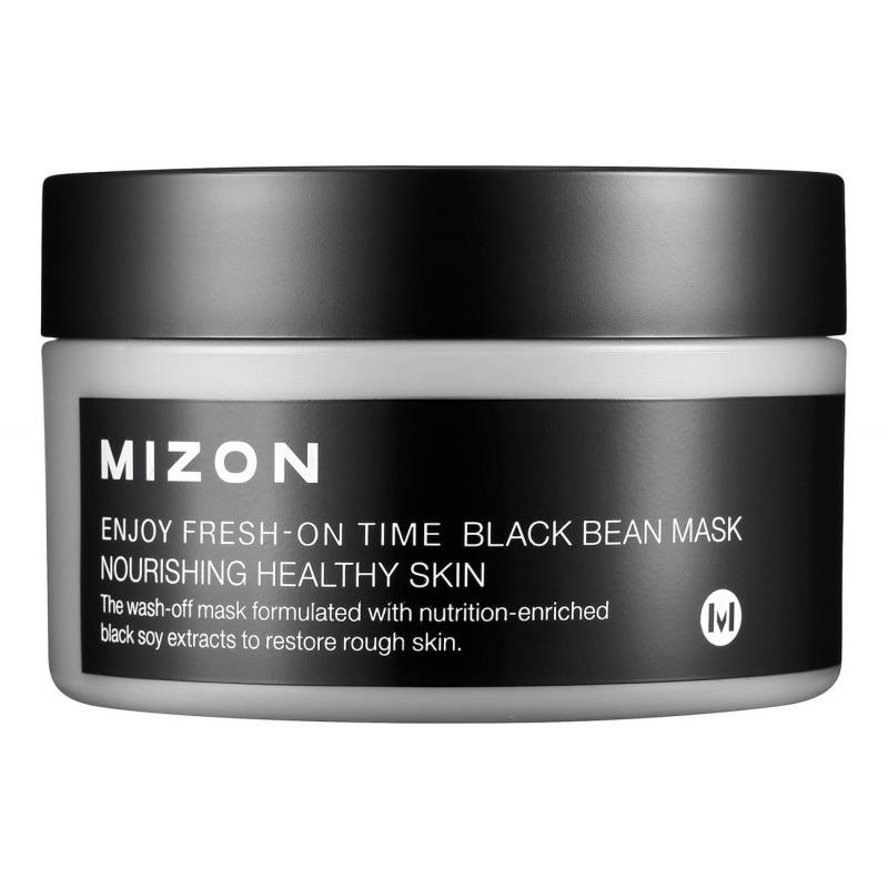 Маска для лица, Enjoy Fresh-On Time Black Bean, Mizon  - Купить