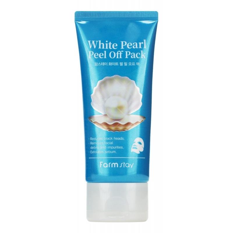 Маска для лица, White Pearl Peel Off Pack, FarmStay  - Купить