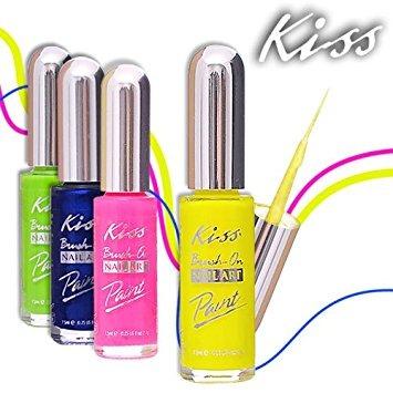 Купить Лак для ногтей, Nail Artist Paint & Stencil, Kiss