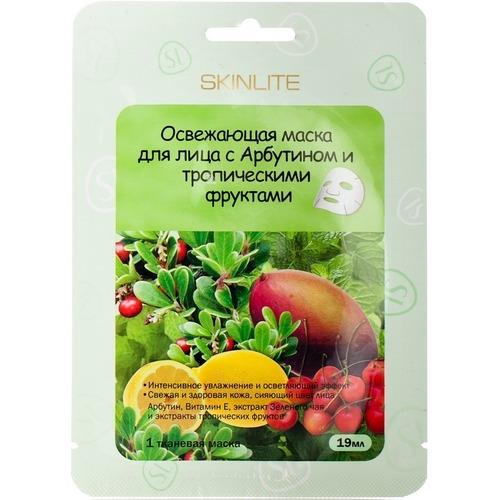 Купить Маска освежающая для лица с арбутином и тропическими фруктами, Skinlite